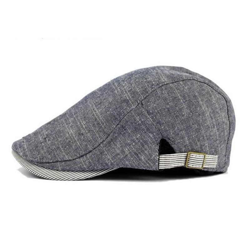Summer Breathable Soft Cotton Beret Men Artist Cap Flat Caps Men's Hats Fashion Adjustable Male Newsboy Gorros Hat Solid Color(China (Mainland))