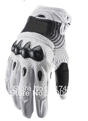 Mountain Bike Motorcross Motorcycle Glove MX ATV Vortex Carbon Glove MTB Cycling ENDURO Glove white