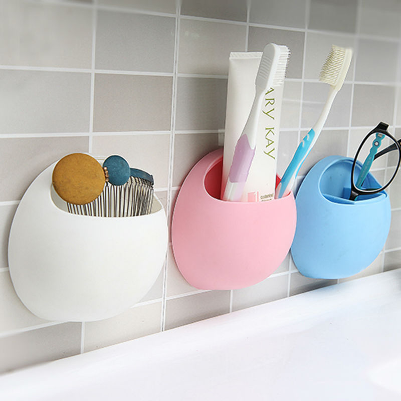 New Arrival New Toothbrush Holder Suction Cup Organizer Bathroom Kitchen Storage Tool Free Shipping Wholesale CS#8(China (Mainland))