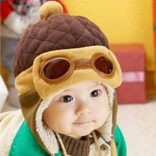 Winter Children's Hat Earflap Toddler Girl Boy Kids Pilot Aviator Cap Warm Soft Beanie Hat Hot Selling(China (Mainland))