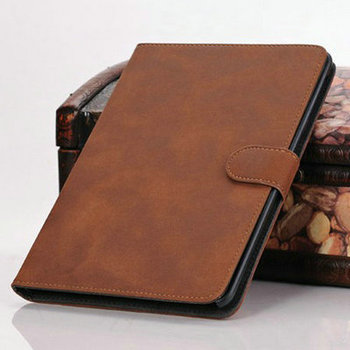 Vintage Retro Leather case for iPad Mini 1 / 2 3 retina with Stand Stylish Durable Brown Black, Free Touch Pen