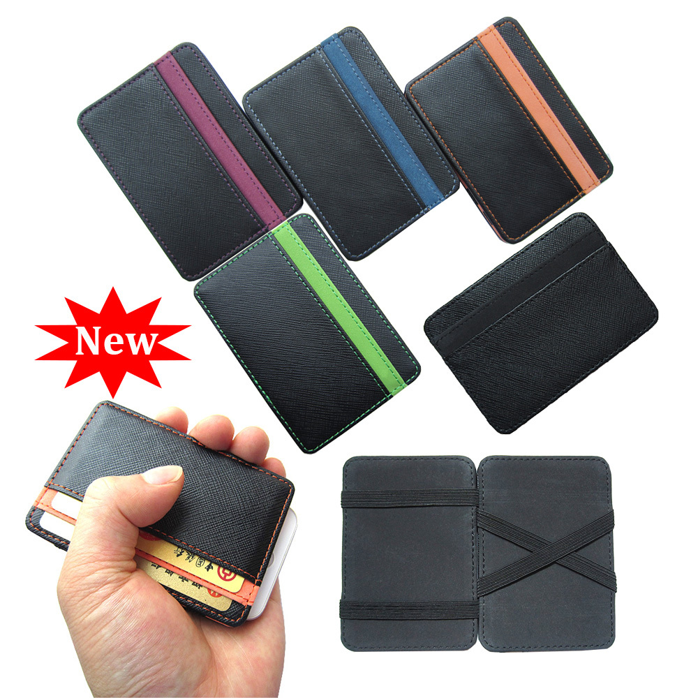 New arrival High quality PU leather magic wallets fashion designer men money clip retail and wholesale Model:FGS01(China (Mainland))