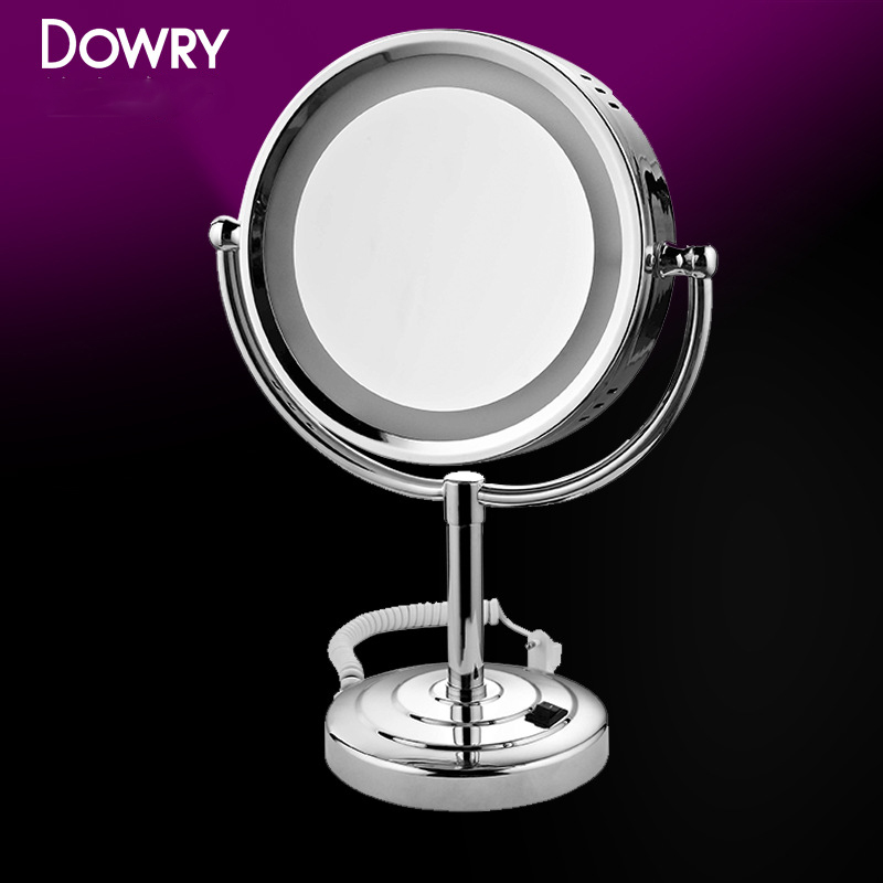 high quality best gifts double side 3x magnifying 10.6 inch rotate 360 degrees large led mirror makeup with light made in China(China (Mainland))