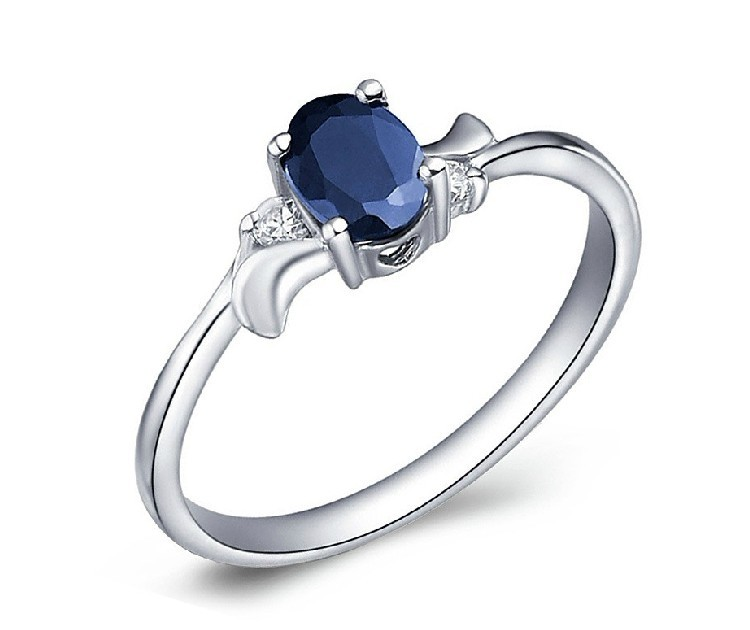 guaranteed 100 blue color sapphire ring 925