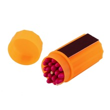 Outdoor Stormproof Windproof Waterproof Matches Kit Orange Case 20 Matches(China (Mainland))