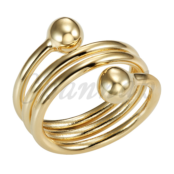 2016 Ladies 18k Gold Copper Fashion Spring Magnetic Ring Resizable Female Magnets Women Jewelry Hong Kong Post Free Shipping(China (Mainland))