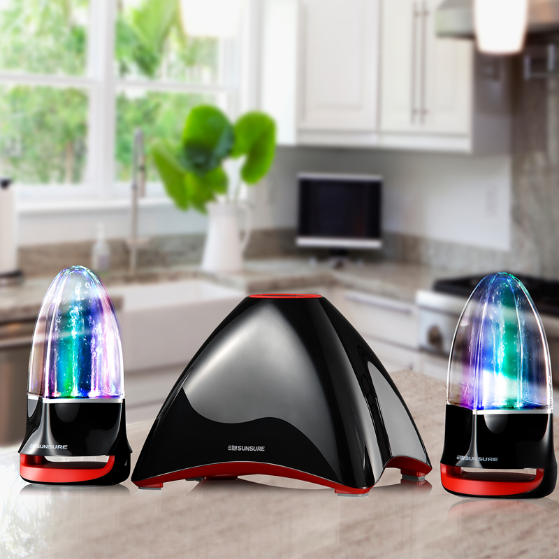 original Sunsure Q86 Water dancing bluetooth speakers,Spray Water stereo Subwoofer LED light-show Fountain TF/Hands-free Speaker<br><br>Aliexpress