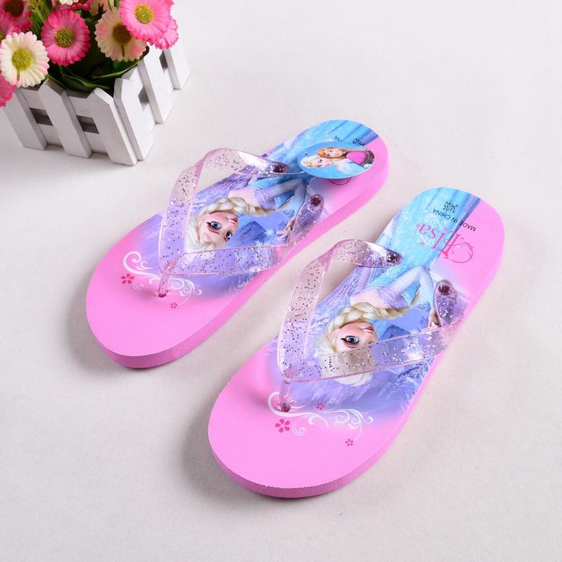 New 2015 Summer Sandals Flip-flops Children Beach Shoes Cartoon Slippers Girl flip flops shoes beach slippers flip-flops<br><br>Aliexpress