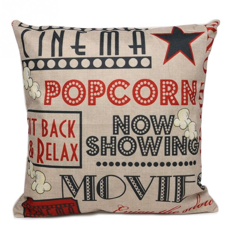Home Decor Letters Pattern Cotton Linen Throw Pillow Case Cushion Cover Home Sofa Car Decoration(China (Mainland))