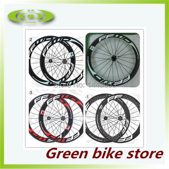 60mm Carbon wheel ffwd clincher wheelset with Novatec hub F6R 3k glossy carbon wheels with FFWD painting, including free gifts(China (Mainland))