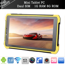 New Bumblebee outdoor 7″ Tablet pc shockproof 1024*600 3G Phone call MTK6572 dual core 1GB/8GB Android 4.2 6000mAh GPS Bluetooth