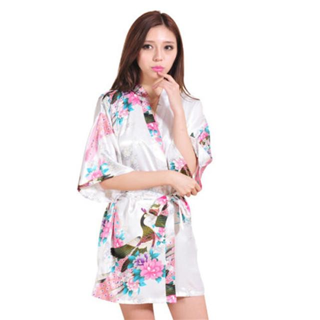 Горячая Sale14 цветов павлин шаблон с коротким стиль свадебное платье невесты кимоно ...