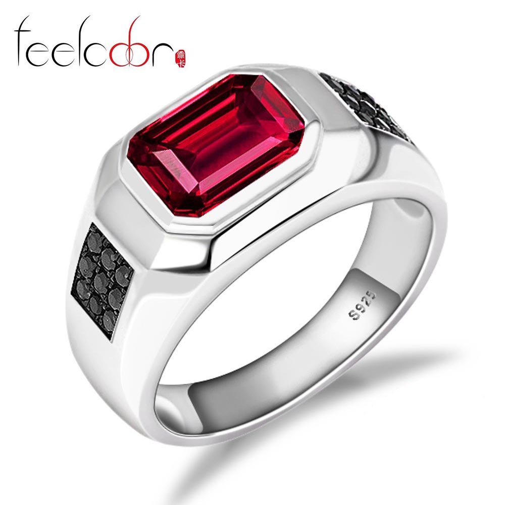 Fashion 4.3ct Pigeon Blood Red Ruby Ring Pure 925 Solid Sterling Silver Men Engagement Wedding Jewelry 2015 Brand New Promotion<br><br>Aliexpress
