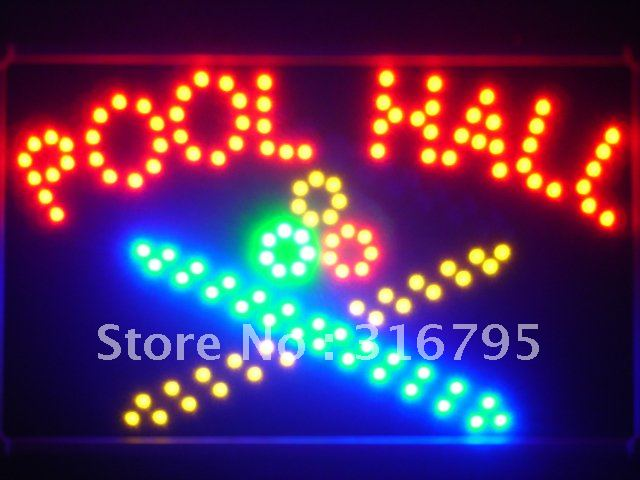led038-r Pool Room LED Neon Light Sign with Whiteboard Wholesale Dropshipping