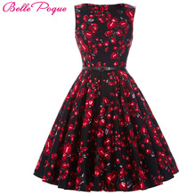 Buy Belle Poque Womens Summer Dress 2017 Floral Retro Vintage 50s Casual Party Robe Rockabilly Dresses Plus Size Vestidos mujer for $19.45 in AliExpress store