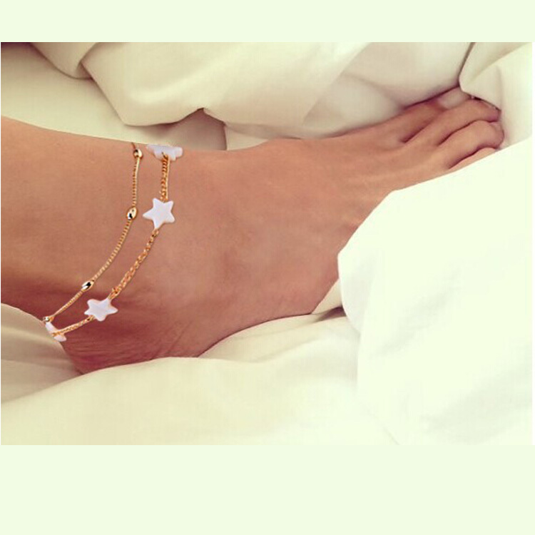new ankle bracelet foot jewelry pulseras tobilleras heart simple anklets for women girl gift chaine cheville bracelet cheville(China (Mainland))