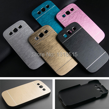 Luxury Brushed Metal Aluminium + PC material case For Samsung Galaxy S3 i9300 phone case cover(China (Mainland))