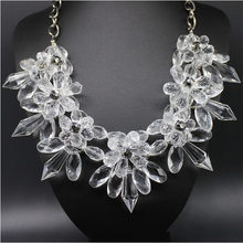 retail free shipping statement necklace for women crystal pendant necklace 4 colors avialable fine fashion jewlery high quality