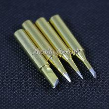 Buy 4 PCS/Lot Golden Lead-free new Solder Iron Tip 900M-T K 1.2D 2C Hakko Soldering Rework Station Tool for $3.72 in AliExpress store