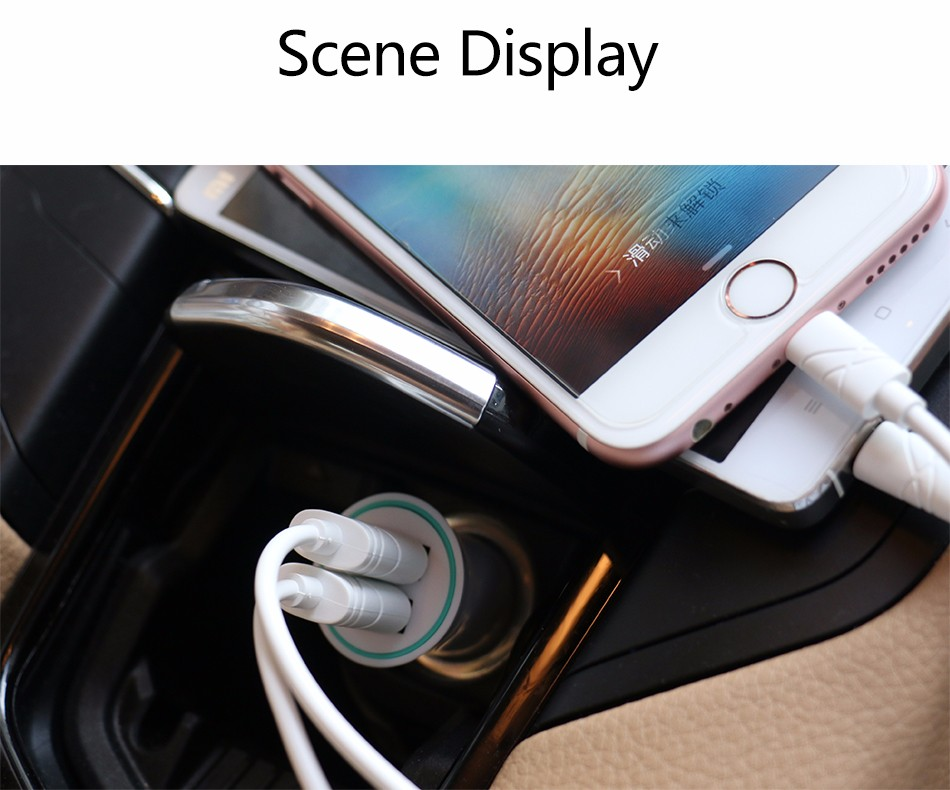 USAMS Little Trumpet Car Phone Charger Max 2.1A Dual USB Port Moblile Phone Fast Charging Adapter for iPhone Samsung LG