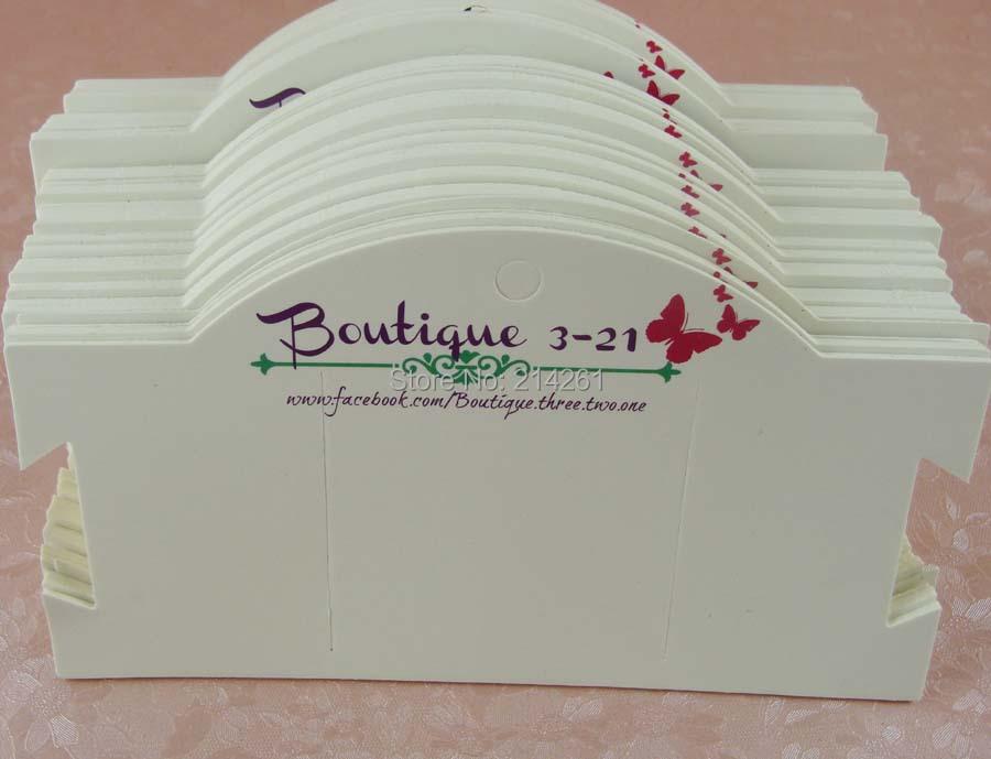 Wholesale Free Shipping Custom Jewerly Display  Card Custom Hair Band Card  /Bracelet Card / Kraft Earring Card customied Logo<br>