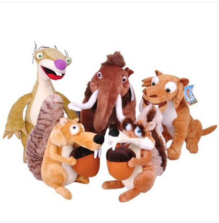 New Ice Age 4 Elephant bradypod Squirrels Tiger plush toy Ice Age 4 plush toy doll ,children christmasgift In stock(China (Mainland))