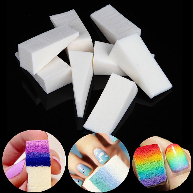 24pcs Nail Art Gradient Color Stamping Transfer Sponge Set UV Gel Polish Fingernail 3D Image Stamp Drawing Manicure Pedicure Kit(China (Mainland))