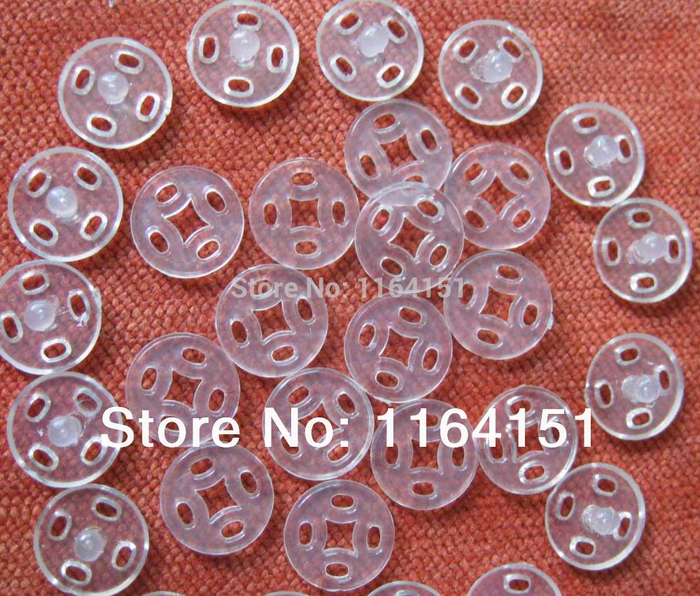 200pcs 10mm Transparent Snap Button baby Garment Buttons For Craft Sewing Button Sewing Buttons scrapbooking Accessories(China (Mainland))