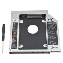 "For CD ODD Notebook Universal Aluminum 2nd HDD Caddy 12.7mm SATA 3.0  For 7/9/12.5/9.5mm 2.5"" HDD Box Case Enclosure Optical Bay(China (Mainland))"