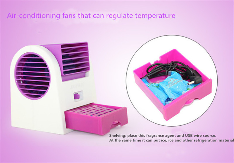 Fashion Mini Fan Cooling Portable Desktop USB Mini Air Conditioner Cool Cooling Desk Water Mist Fan Without Battery