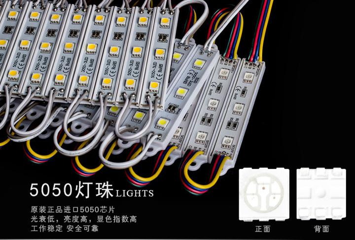 christmas led lights Warteproof 5050 SMD white LED module light , DC12V input, 2string, 10 - Shown Zhang's store