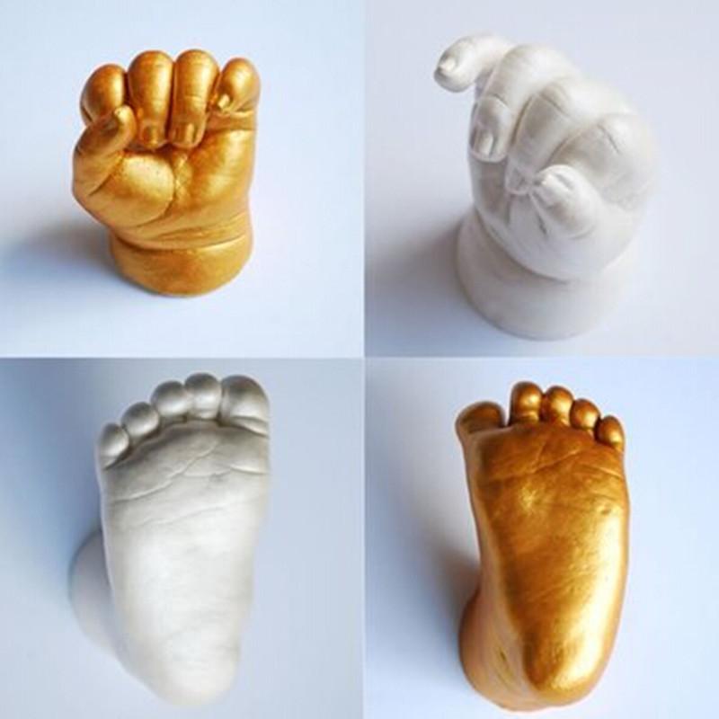 Слепок ноги и руки ребенка своими руками