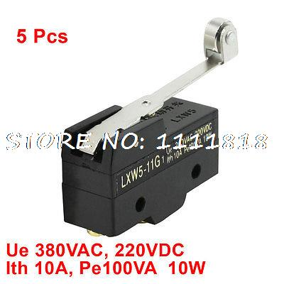 5 Pcs LXW5-11G1 NO NC Short Roller Hinge Lever AC DC Micro Limit Switch(China (Mainland))