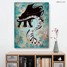 Top Quality Skilled Artist Design Abstract Modern Wall Decoration Musical Instrument Oil Painting Abstract Piano Oil Painting(China (Mainland))