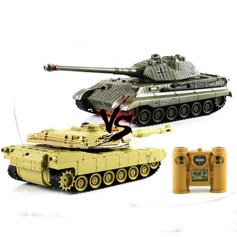 2016 New Remote Control Tank Infrared battle tanks Toy Sound Of Cannon And Emmagee remote control tank With Light