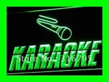 i099-g OPEN Karaoke Box Cafe Bar Pub NR LED Neon Light Sign