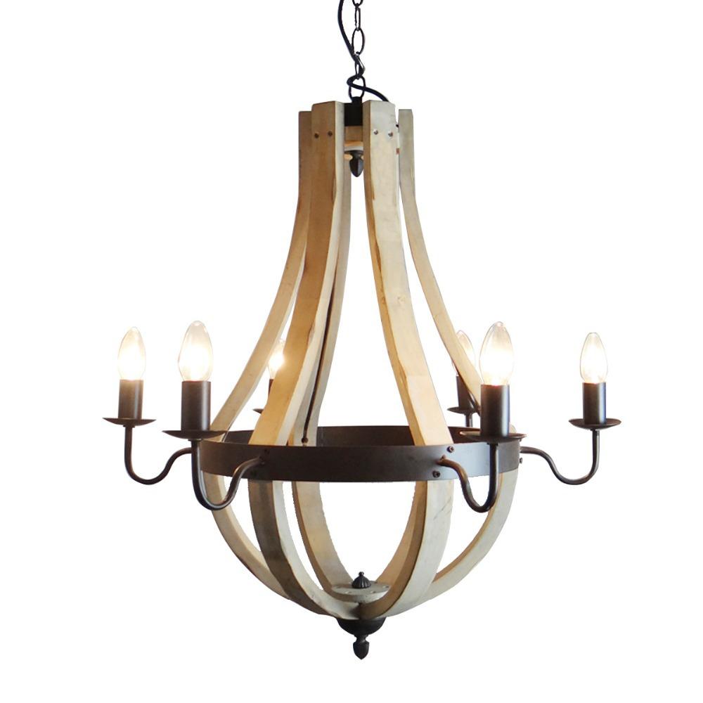 Classic IKEA Nordic Vintage Wood Pendant Lamps RH Loft