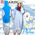 Pokemon Go Piplup Kigurumi Onesie Pattern Animal Cosplay Costume Sleepwear Adult Fleece Pajamas