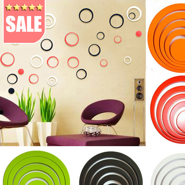 New Fashion bathroom home Decoration Home 3D Art Wall Stickers Multi Colors Choice Wholesale Creative Stereo DIY Wall Stickers(China (Mainland))