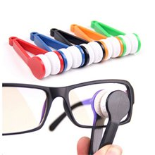 5 Pack 5 Pieces Mini Sun Glasses Eyeglass Microfiber Spectacles Cleaner Soft Brush Cleaning Tool
