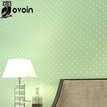 Modern simple shimmer small Polka dots non woven wallpaper Dolls House bedroom home decor for kids' room(China (Mainland))