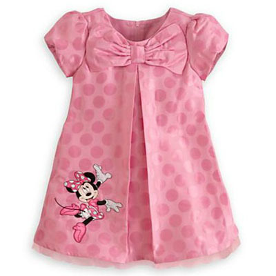 clearance sale s minnie dress pink dot bow casual