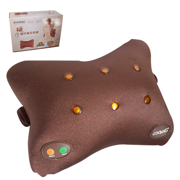 body Massage magnet magnetic Electric Nap Pillow Traction Massage tone Shape Pillow Relief lower Back Pain Massager 30(China (Mainland))