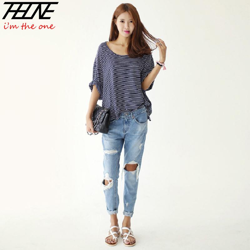 Свободные джинсы женские