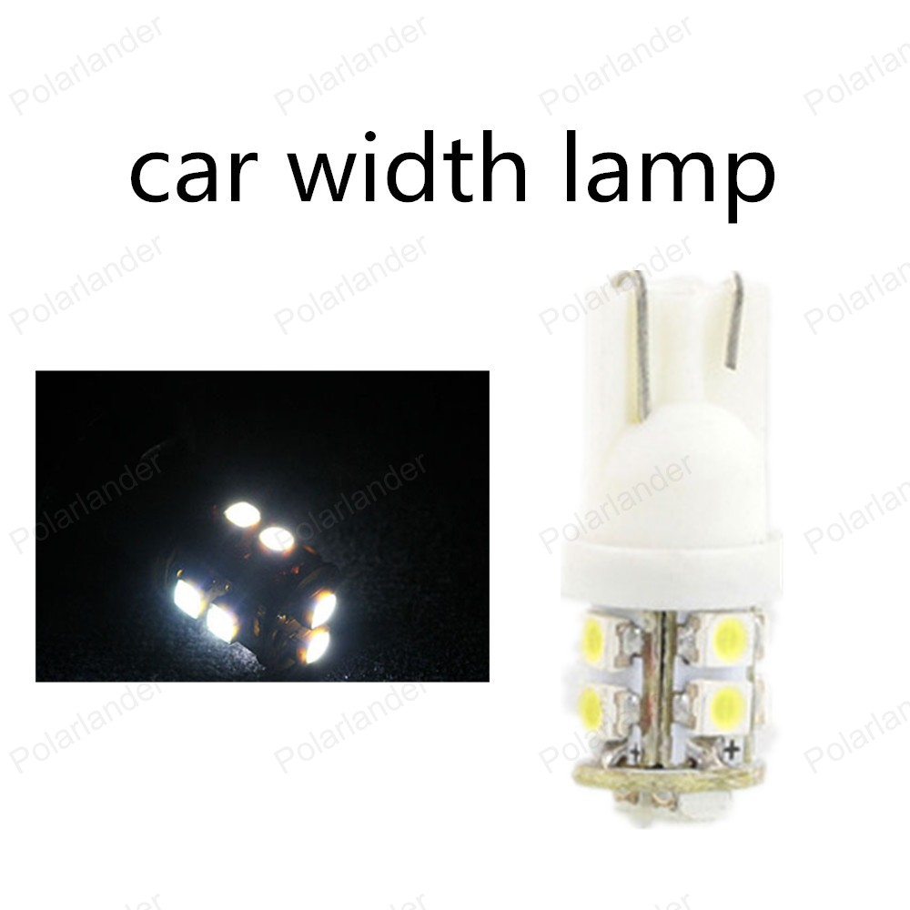 big sale 10pcs/lot univesal Car width lamp White Color car license plate light W5W 168 194 1210/3528 SMD t10 10smd(China (Mainland))