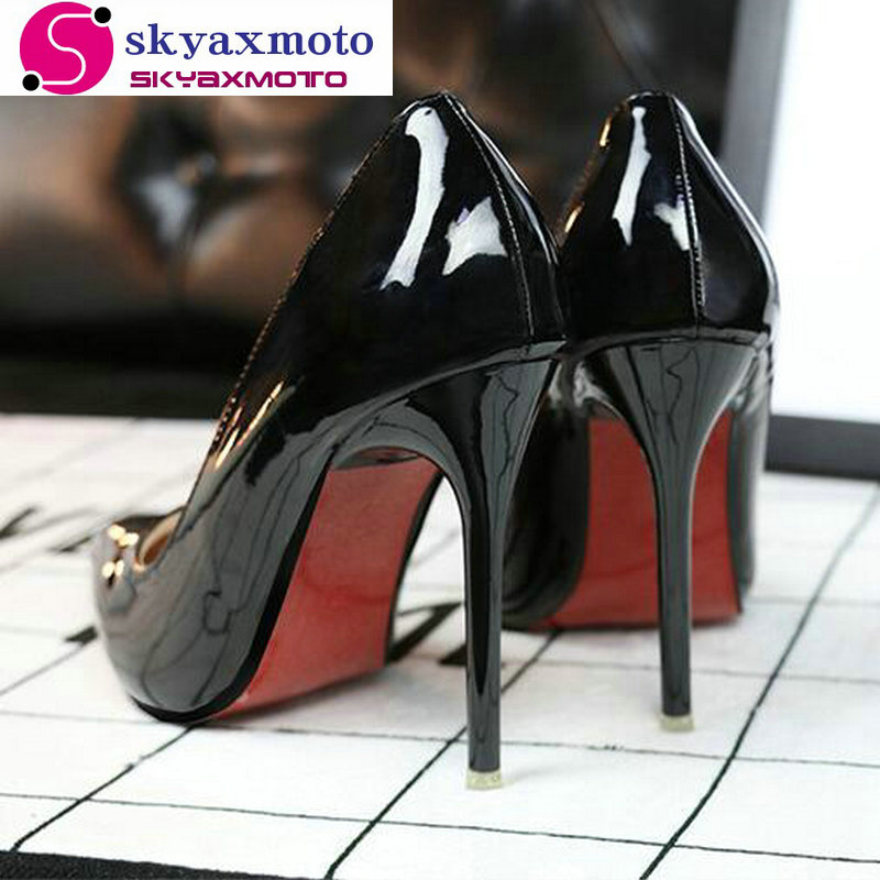 Top Quality Red Bottom High Heels Shoes 2017 Women Pumps Sexy Pointed Toe Red Sole Women Shoes Chaussure Escarpins Semelle Rouge(China (Mainland))