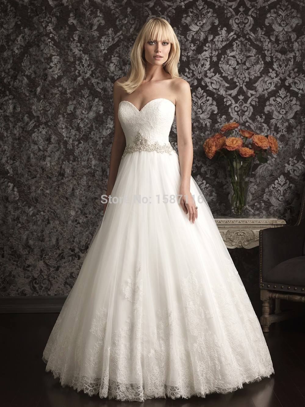 2015 elegant wedding dresses custom made sweetheart for Sweetheart halter wedding dress