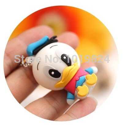 100% real capacity lovely Donald Duck usb flash drive cartoon pendrive USB Pen Drive Disk Flash Memory Stick pendriveping S243(China (Mainland))