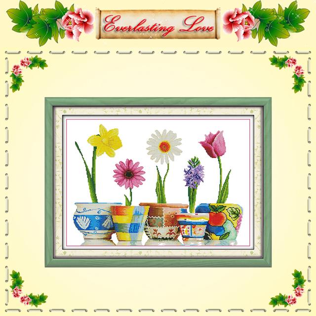 Яркой жизни цветок дейзи китайский крестом картины DMC 14CT 11CT насчитал печать на ткани рукоделие вышивать комплект