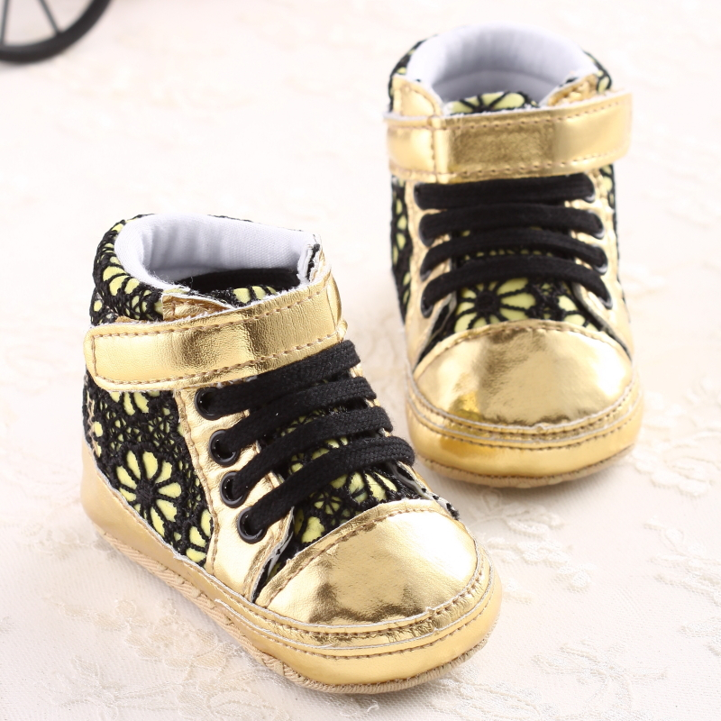 Free Shipping Cheapest price Baby Shoes Gold Angel Wings